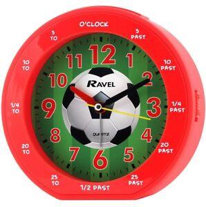Boys lads football clock red alarm bedroom by Ravel