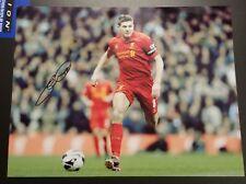 Steven Gerrard Signed 8.5x11 Photo Liverpool LA Galaxy England