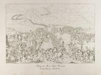 Grabado 1876: Cuello Del Grand-Saint-Bernard. Napoleón Bonaparte