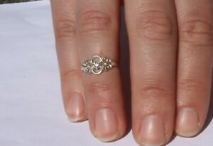 Solid Silver 925 Filigree Ladies Ring UK Handmade Size Available+ Gift bag