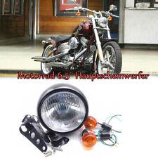 Motorrad 6.5'' Hauptscheinwerfer Hi/Low Beam +Paar Blinker+Harlter