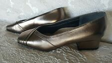EASY STEPS, Leather,  Grey Gold, SELMA, New,  Shoes Size 6.5C