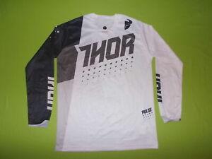 Jersey THOR PULSE (M) PERFECT !!! MOTOCROSS Downhill MTB White