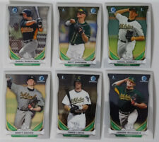 2014 Bowman Draft Chrome Oakland Athletics Team Set 6 Baseball Cards