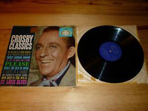 BING CROSBY - CROSBY CLASSICS VINYL / ALBUM / LP / RECORD / 33rpm EXCELLENT