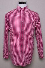 Men's ORVIS Pink Checkered Button Up Shirt Sz Medium M