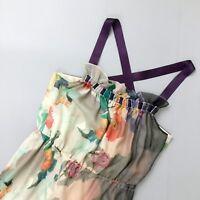 Matthew Williamson Silk Chiffon Long Maxi Evening Wedding Dress Gown Size S UK 8