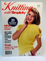 Vintage Knitting With Simplicity Magazine 1986