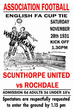 """JACK KAVANAGH /""""GOING TO THE MATCH/"""" SCUNTHORPE UNITED FRAMED PRINT"""