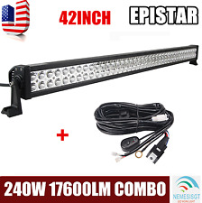 42inch 240W EP SPOT FLOOD LED Light Bar Offroad SUV ATV 4X4 Lamp With Wiring Kit
