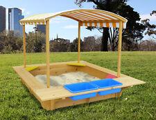 Lifespan Kids Playfort Wooden Sandpit HUGE 1.9m X 1.6m Sand Pit With Canopy
