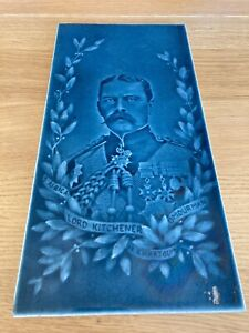 Victorian Lord Kitchener Pottery Tile - Mintons