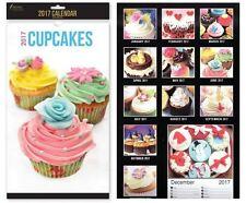2017 midi mois civil pour afficher cupcakes design planner organisateur bureau à domicile