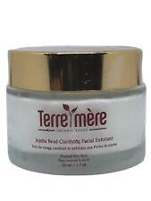 TERRE MERE Organic Vegan Jojoba Bead Clarifying Facial Exfoliant 1.7oz , New