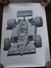 More details for original senna lotus camel 1987 1980s alan stammers grand prix f1 print