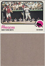 1973 Topps Jim Fregosi Extremely Rare Blank Back Proof Baseball