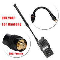 SMA Female Walkie Talkie Tactical Antenna UHF VHF for Baofeng Two Way Ham Radio