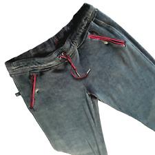 Nike Air Jordan Velours Jogger Pantalon Grand Taille L Gris Droit Jambe Poches