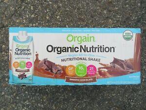 (12) Orgain Organic Nutrition Vegan All-In-One Nutritional Shake Choco 11 Oz Ea