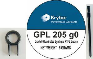 Krytox GPL 205 Grade 0 Linear Switch 205g0 5 Grams + 2 Brushes + KeyPuller