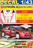 DECAL 1/43 CITROEN XSARA WRC XAVI PONS R.NEW ZEALAND 2006 4th (01)