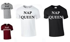 Nap Queen Tumblr Sleep Napping Pyjamas Present T Shirt Nightwear (NAP,TSHIRT)