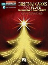 """EASY INSTRUMENTAL PLAY-ALONG FOR FLUTE """"CHRISTMAS CAROLS"""" MUSIC BOOK/AUDIO-NEW!!"""