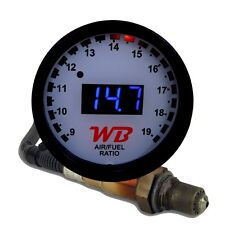 APSX D2 Wideband O2 Air Fuel Ratio Controller Gauge Kit (White-Blue)