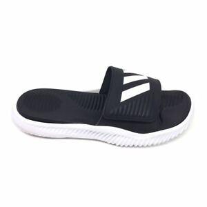 Adidas Alphabounce Slide Sport Slides Black And White Slippers FTWWHT/CBLACK