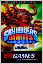 EB GAMES GAMESTOP ACTIVISION SKYLANDERS GIANTS GAME RARE COLLECTIBLE GIFT CARD