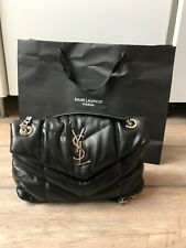 YVES SAINT LAURENT small black leather Loulou puffer shoulder bag RRP $2100