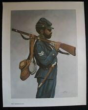 THOMPSON Serigraph Oil Painting Canvas CIVIL WAR BLACK SOLDIER 1635