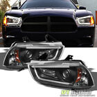 Black 2011-2014 Dodge Charger DRL LED Tube Projector Headlights Headlamps 11-14  for sale