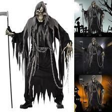 Mens Zombie Ghost Face Halloween Scream Scary Fancy Costume Robe