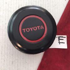 "#E Toyota 4 Runner T100 Tundra Center Cap HUBCAP Metal Black Red  2"" tall OEM"