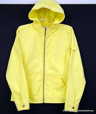 Christopher & Banks Yellow Jacket Sz Medium Hooded Lightweight Twill Full Zip