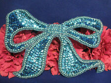 SEQUIN BEADED PEARLED BOW 1036-C