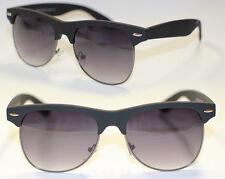 50er 60er Jahre Sonnenbrille Halbschale schwarz matt gummiert Rockabilly 551