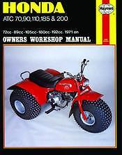 HONDA 3 wheeler ATC 70 90 110 185 200 quad trike Service Repair Shop Manual