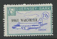 Guernsey SARK 1966 Europa 1/6 INVERTED ovpt ERROR