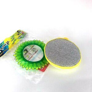 Kitchen Cleaning Brush Double Sided Metallic Scourer with Sponge Dishwasher