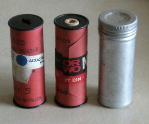Vintage ORWO & Agfacolor 120/620 unused lot 3 pcs. roll films