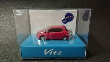 TOYOTA Vitz  Yaris LED Light Keychain Pink Metallic Pull Back Model Car