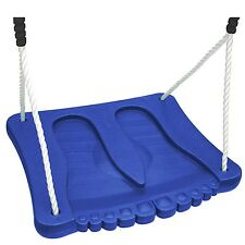 Swing Slide Climb Foot Swing, Polyethylene Ropes 50kg Capacity, Blue *Aust Brand