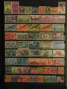 Very Old American Stamps Small Collection for good price