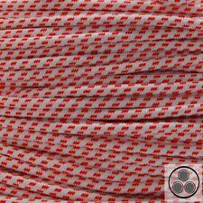 Textilkabel Stoffkabel Lampen-Kabel Stromkabel Elektrokabel Welle Rot 3adrig