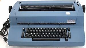 Vintage IBM Selectric 2 Correcting Typewriter Blue W Extras 10 Font Balls Tested