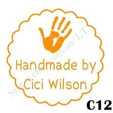 Personalised Custom Self Pre ink Craft Address Teacher Stamps Round 40mm C12