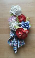 Ladies Flower Floral Colourful Rainbow Wedding Races Ascot Button Hole Corsage