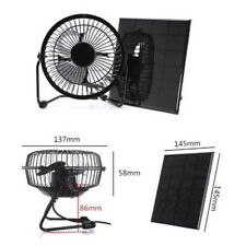 4'' 3W USB Iron Solar Powered Panel Fan For Outdoor Home Cooling Ventilation New